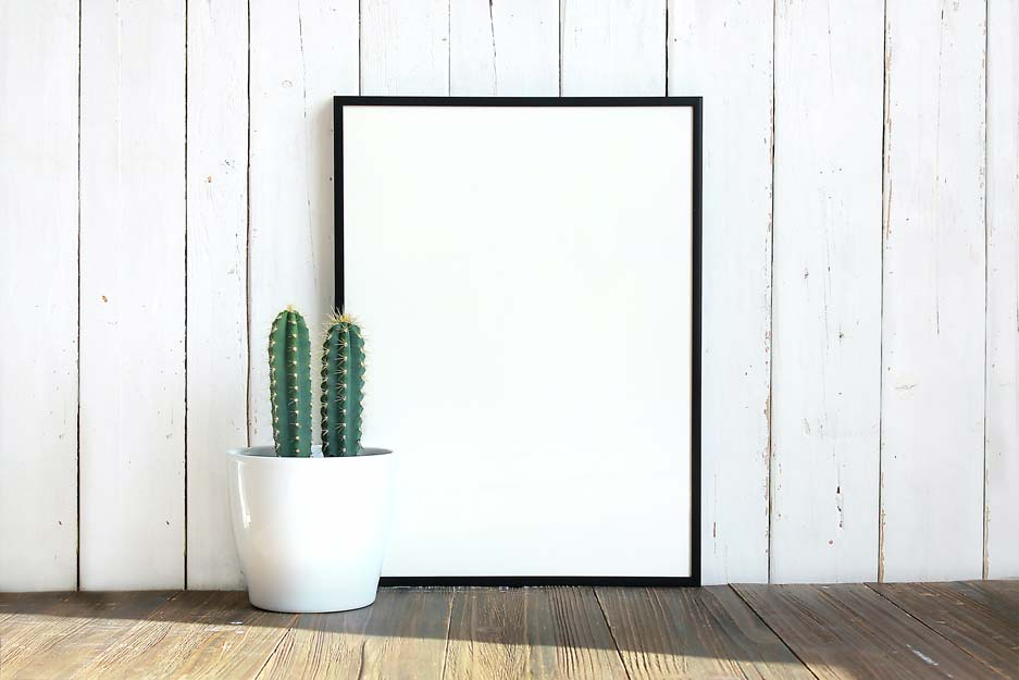 add a black poster frame as an upsell to your online poster selling business