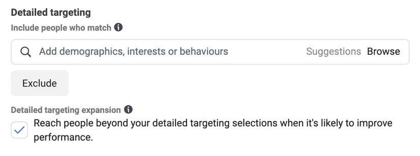 You can find the detailed targeting expansion in the detailing targeting section of your adset in your faceboo ad manager