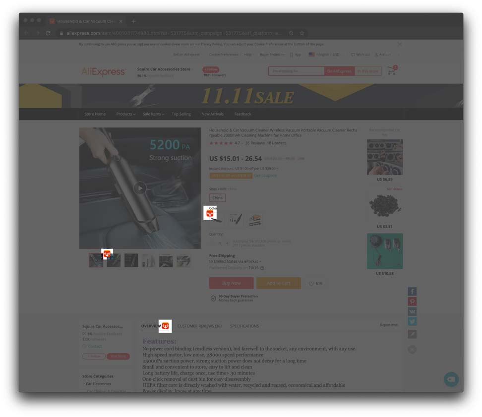 Here's how you can download images from aliexpress using alisave