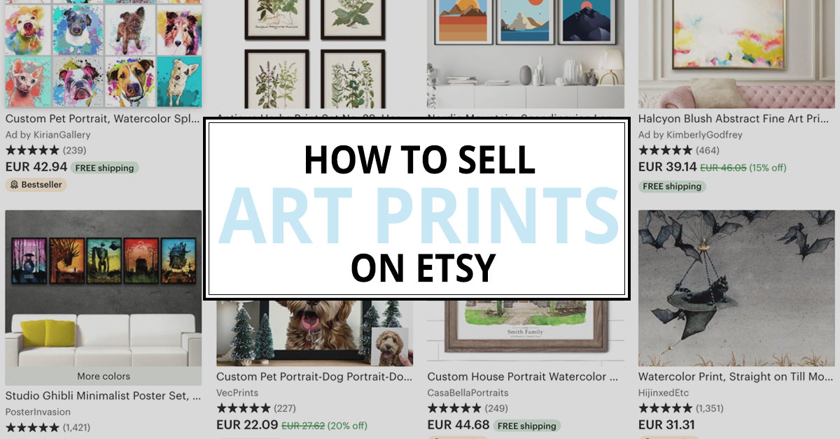 how to sell art prints on etsy