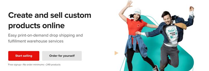create your printful account to integrate with your etsy shop