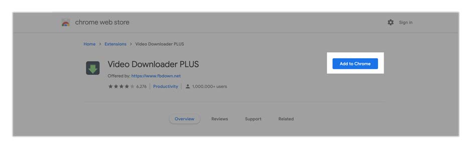 Video downloader plus is the best free extension for downloading videos from Aliexpress