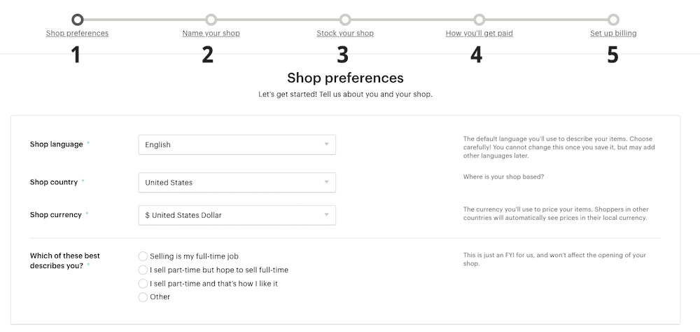 How to setup your Etsy shop so you can integrate it with Printify