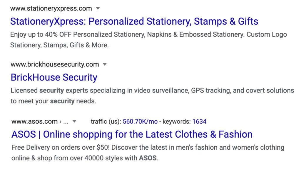 here are some examples of title and meta descriptions for Shopify stores