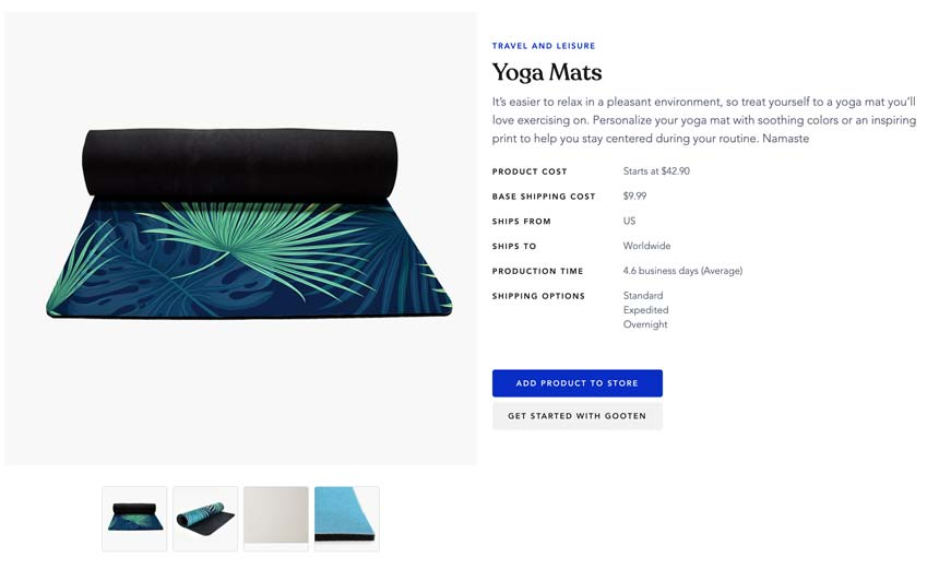 Yoga Mat Print On Demand Through Gooten
