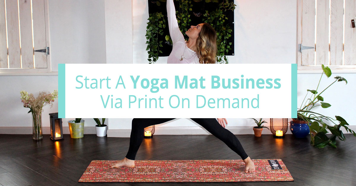 yoga mat print on demand