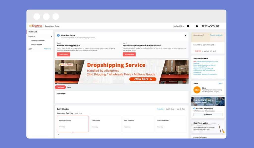 What is AliExpress Dropshipping Center