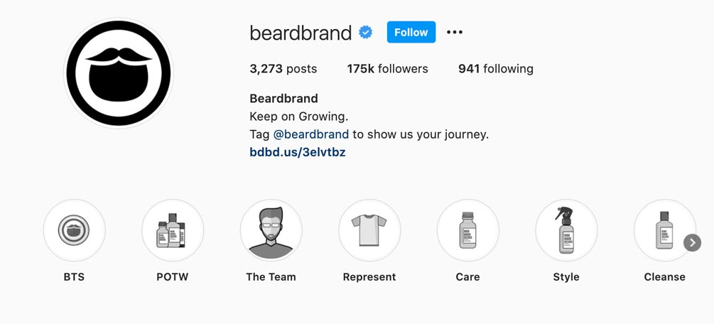 Beardbrand is an example of a success eCommerce social media brand