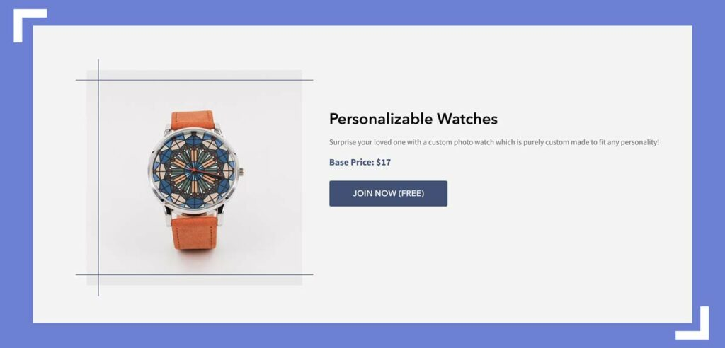 you can personalize watch faces with beeoux print on demand
