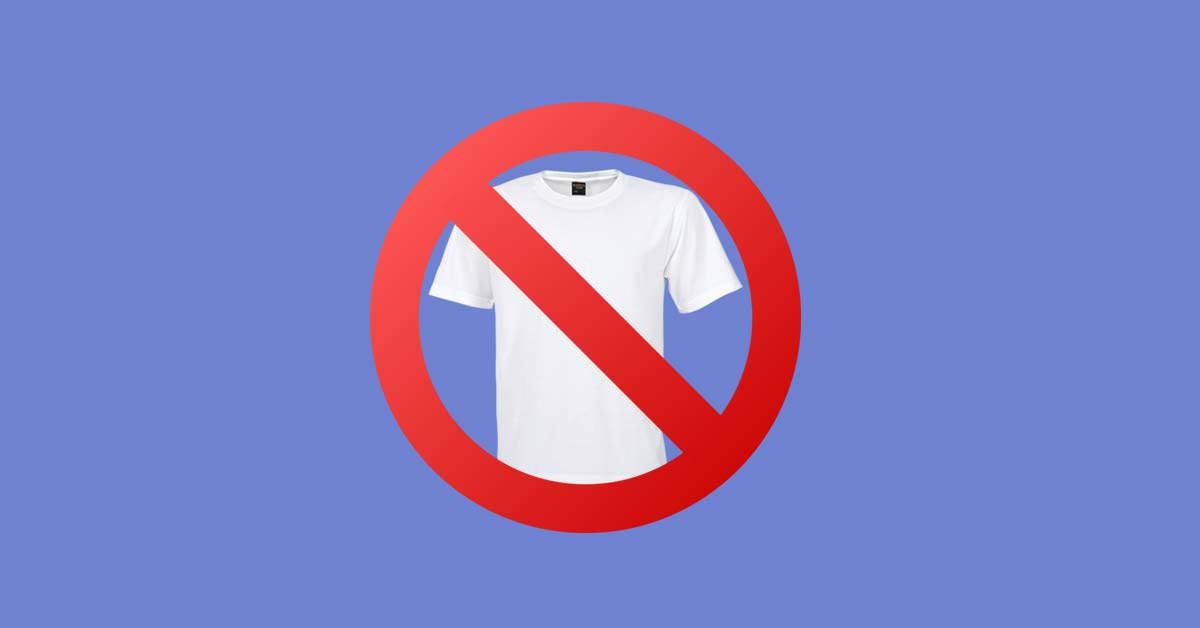 don't sell t-shirts on your print on demand store