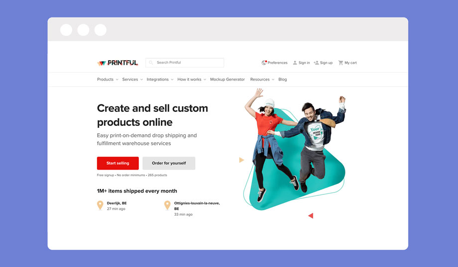Printful is an alternative to Redbubble if you want to host pod products on your own webshop