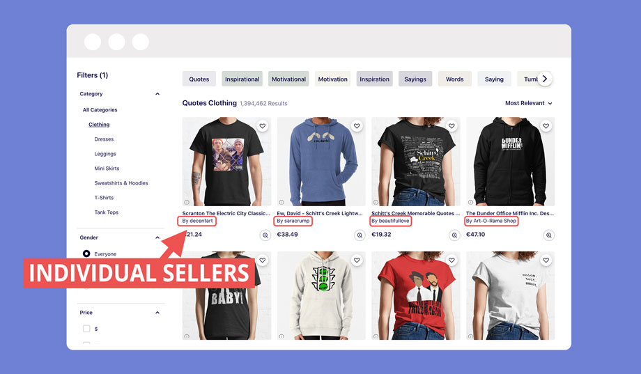 How anyone can sell designs on the Redbubble marketplace