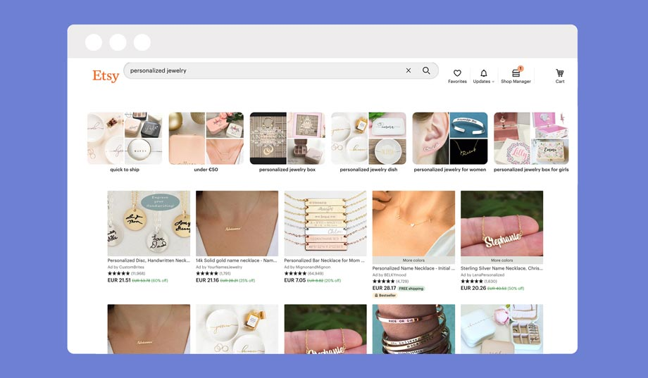 Selling on the Etsy marketplace is a great way to sell products online without a website