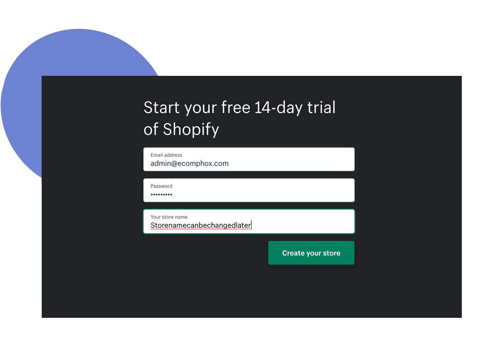 how to create a free shopify drop servicing website