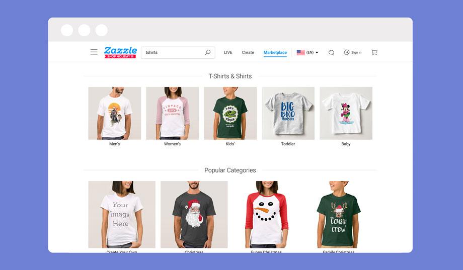 Zazzle is a redbubble POD marketplace alternative