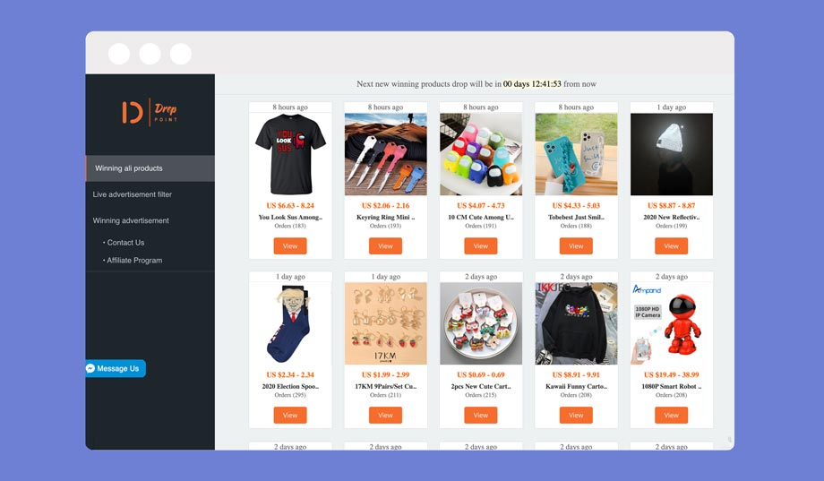drop point review - winning AliExpress products tab