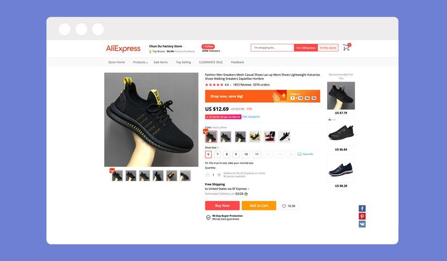 AliExpress sneaker dropshipping