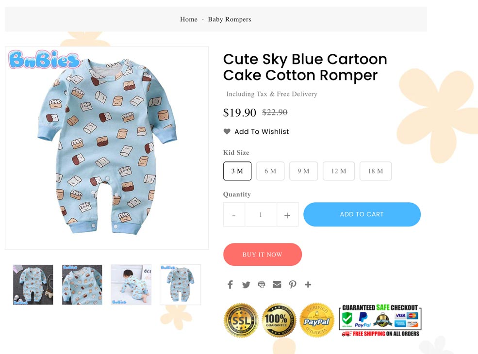 Example of a really bad Shopify product title that overoptimizes for SEO
