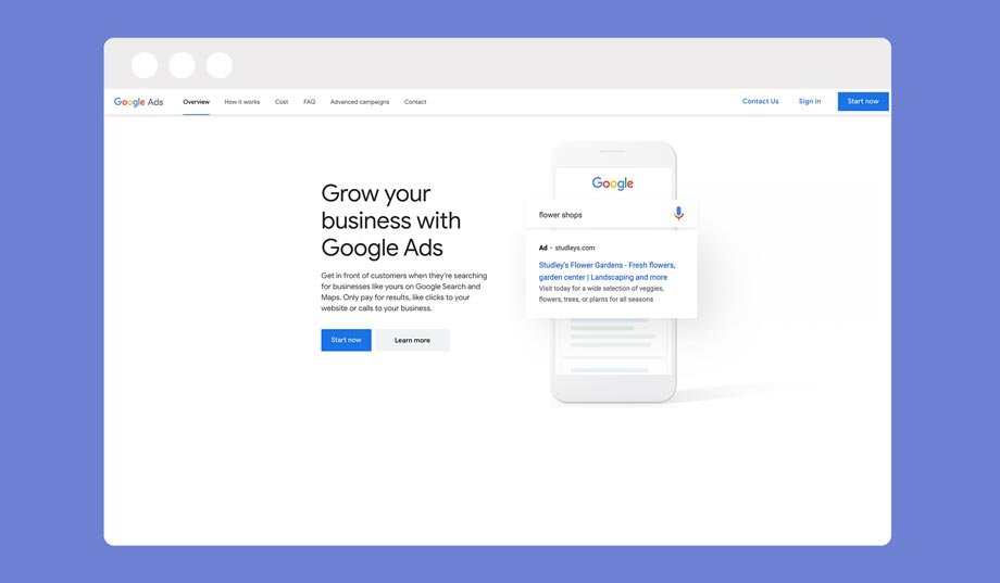 drop servicing with google ads